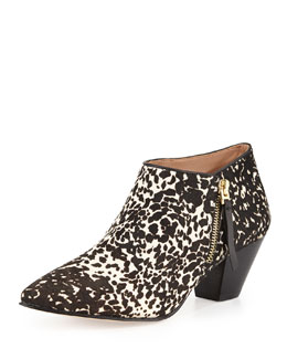 VC Signature Adinah Spotted Calf Hair Ankle Boot, Chocolate Chip