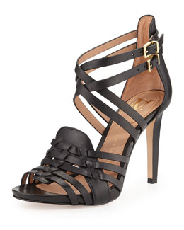 VC Signature Barbara Strappy Crisscross Sandal, Black