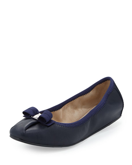 Salvatore Ferragamo My Joy Matte Leather Ballerina Flat