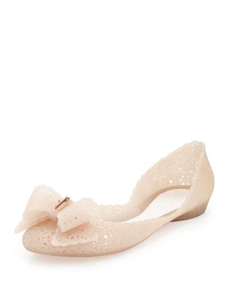 Nilly Jelly Bow Ballerina Flat, Macaron