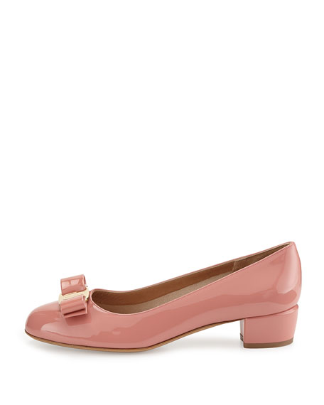 Vara Bow Patent Pump, Blush