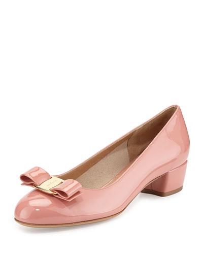 Salvatore Ferragamo Vara Bow Patent Pump, Blush