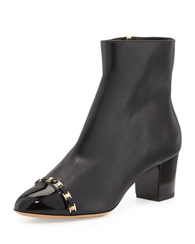 Salvatore Ferragamo Nao C Cap-Toe Ankle Boot