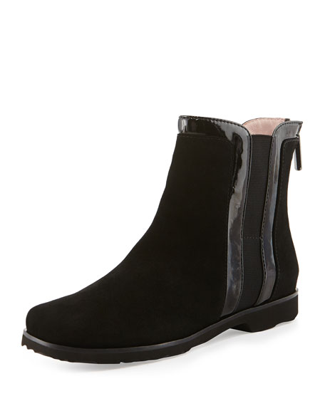 Taryn Rose Jann Flat Suede Ankle Boot