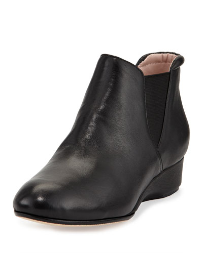 Taryn Rose Franklyn Suede Ankle Boot, Black