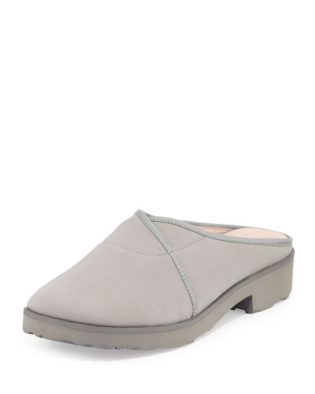 Taryn Rose Tesse Stretch Slip-On Mule, Gray