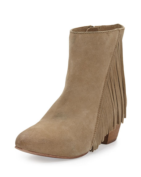 Good Advice Suede Fringe Bootie, Sand