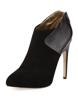 Sam Edelman Jacelyn Mixed-Media Bootie, Black