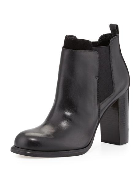 Kenner Contrast-Trim Ankle Bootie, Black