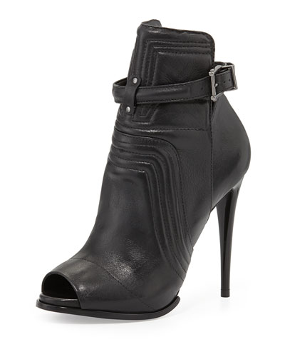 Schutz Poliany Cut Out Bootie, Black