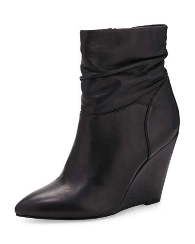 Seychelles Set In Stone Leather Wedge Bootie, Black