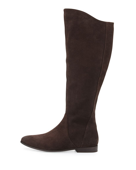 Invite Suede Knee Boot, Dark Brown