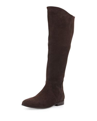 Seychelles Invite Suede Knee Boot, Dark Brown