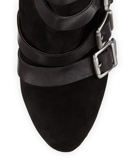 Kenny Buckled Suede Bootie