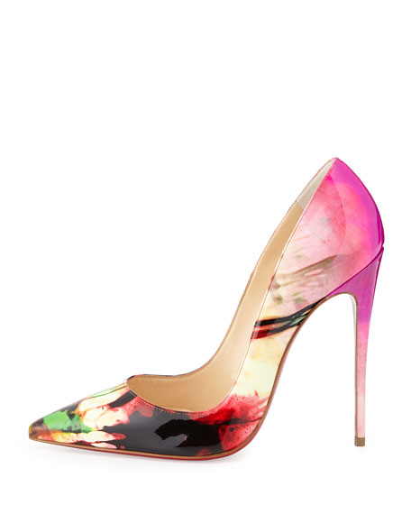 So Kate Tie-Dye Patent Red Sole Pump