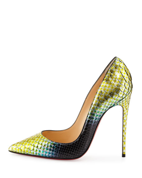 So Kate Python Mermaid Red Sole Pump, Mimosa