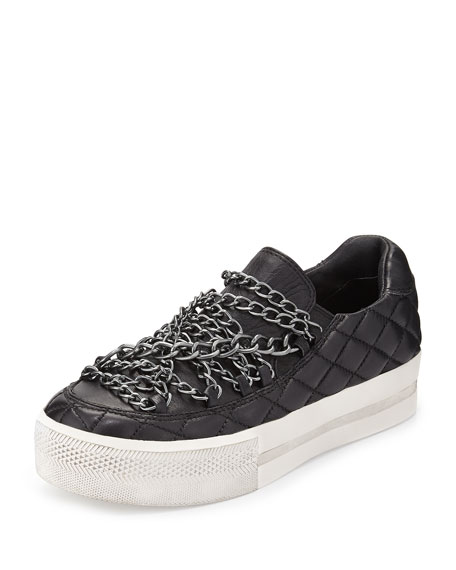 Jewel Bis Chain Platform Sneaker, Black