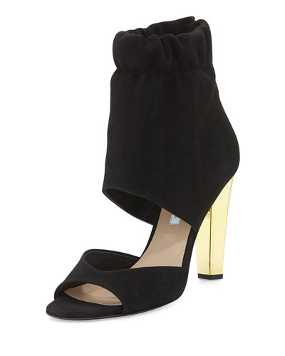 Diane von Furstenberg Bandana Open-Toe Ankle Bootie