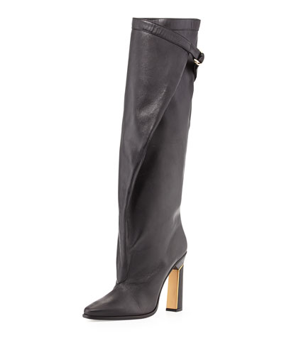 Derek Lam Tonya Runway Slouchy Knee Boot, Black