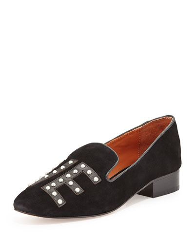 Pattington Suede Love Loafer, Black