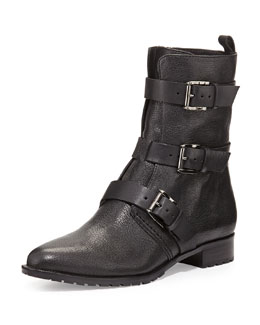 Rebecca Minkoff Malla Triple-Buckle Moto Boot