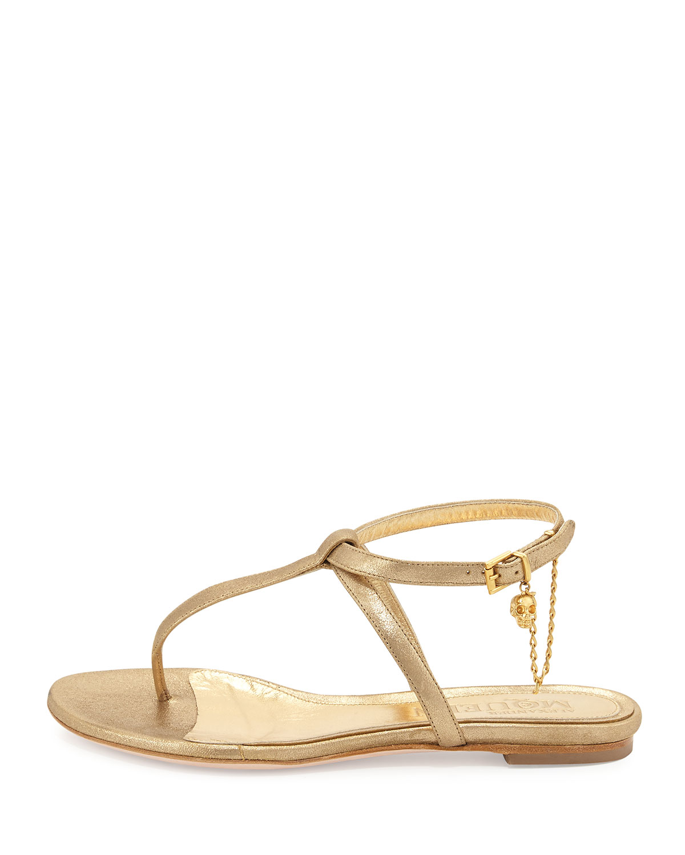 Alexander McQueen Skull Thong Sandals discount fake 9Y6SIxZCE