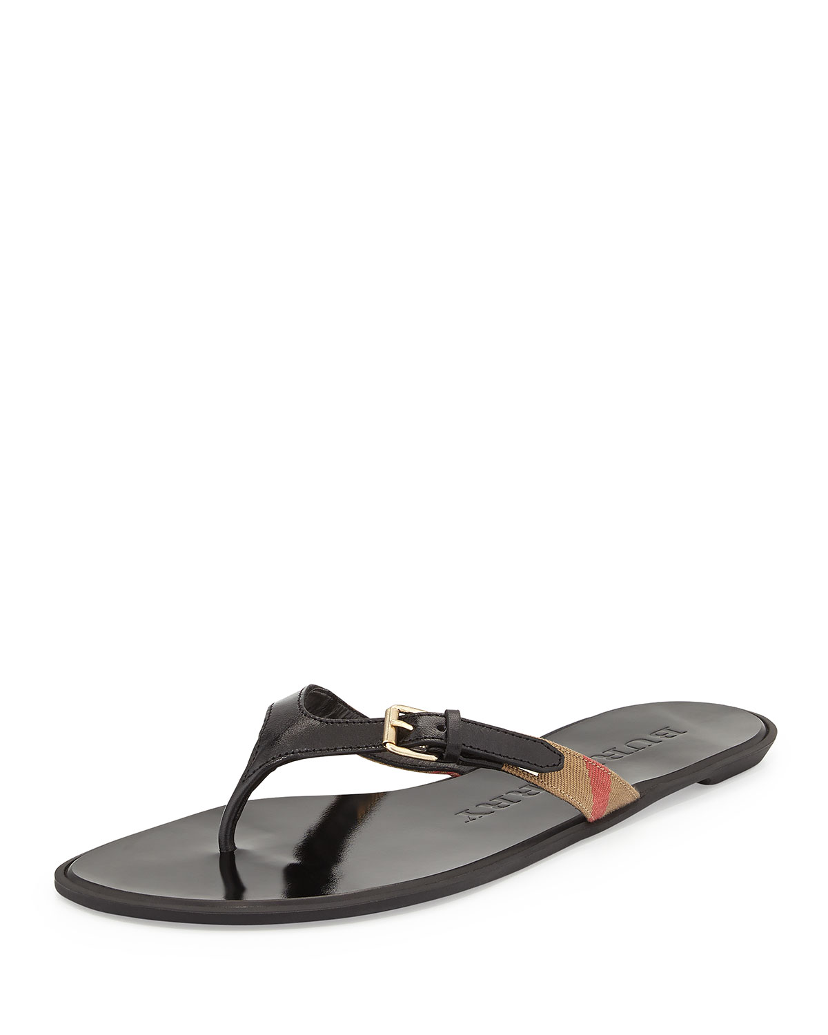 Burberry Nova Check Thong Sandals
