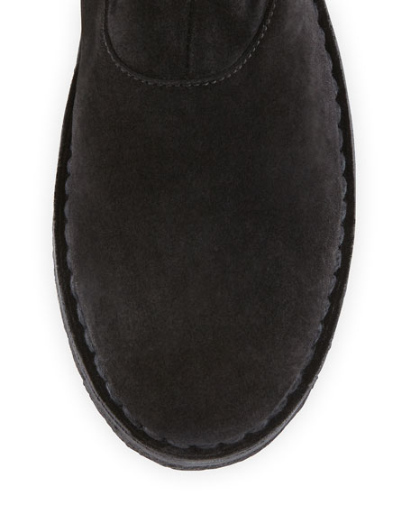 Sadler Shearling-Lined Knee Boot, Black