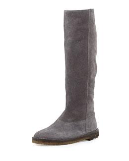 Vince Sadler Shearling-Lined Knee Boot, Graphite