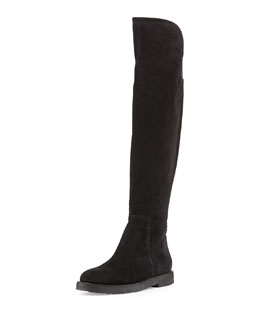 Vince Coleton Suede Over-the-Knee Boot, Black