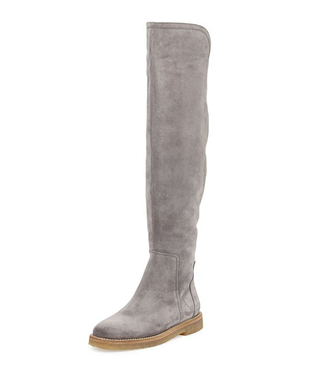 Coleton Suede Over-the-Knee Boot, Graphite
