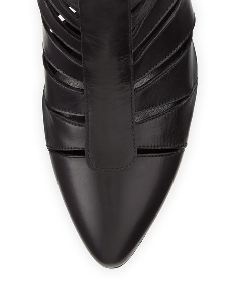 Airliner Cutout Ankle Bootie, Black