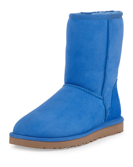 UGG Classic Short Boot, Smooth Blue