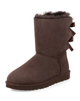 UGG Australia Bailey Bow-Back Short Boot, Chocolate