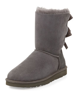 UGG Australia Bailey Bow-Back Short Boot, Gray