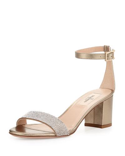 Glam Mesh Naked Sandal