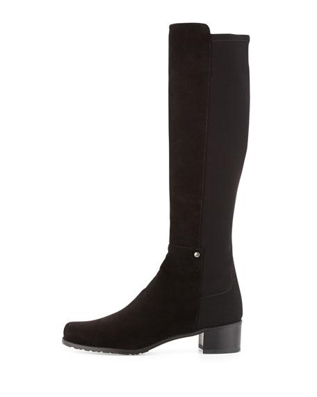 Mezzamezza Suede Knee Boot, Black