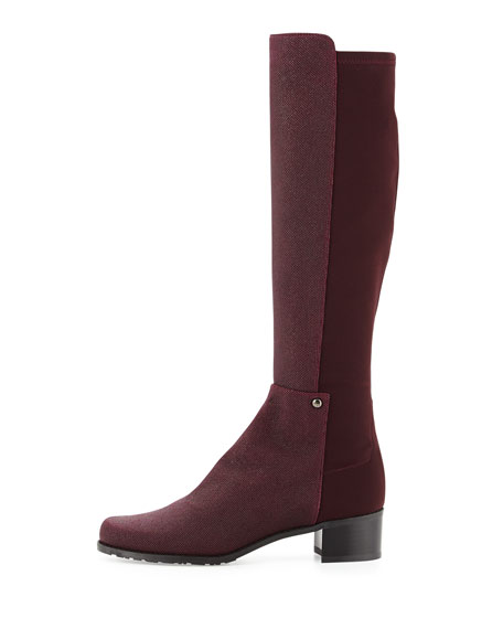 Mezzamezza Pindot Knee Boot, Bordeaux