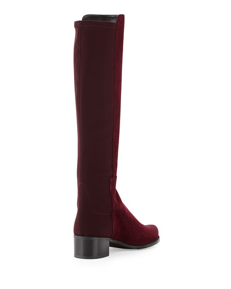 Mezzamezza Suede Knee Boot, Bordeaux