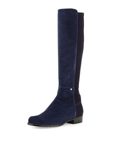 Stuart Weitzman Coast Mezzamezza Suede Knee Boot, Nice Blue (Made to Order)