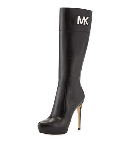 MICHAEL Michael Kors <MKFMGLOBALCOPY-mmk> Hayley Leather Boot