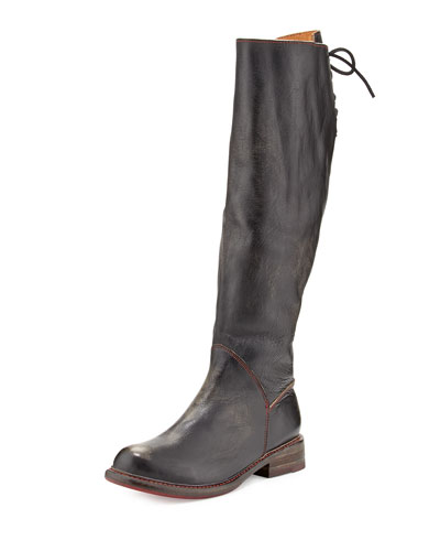 Bed:Stu Manchester Laced-Back Knee Boot