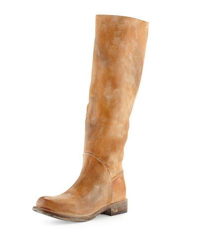 Bed:Stu Manchester Rustic Leather Knee Boot, Tan