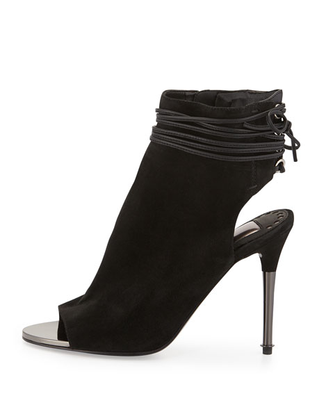 Dolce Vita Hadlie Suede Laced-Back Bootie
