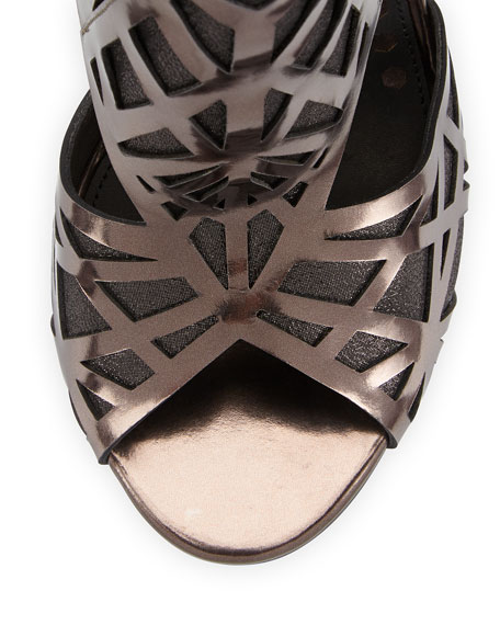 Hadrian Laser-Cut Leather Sandal