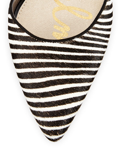 b74fc3aa2 Sam Edelman Okala Zebra-Print Ankle-Wrap Pump