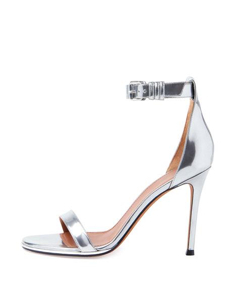 Ankle-Wrap Sandal, Silver