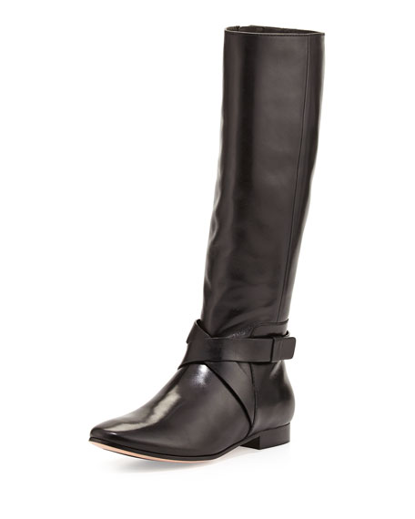 Russell Leather Knee Boot, Black