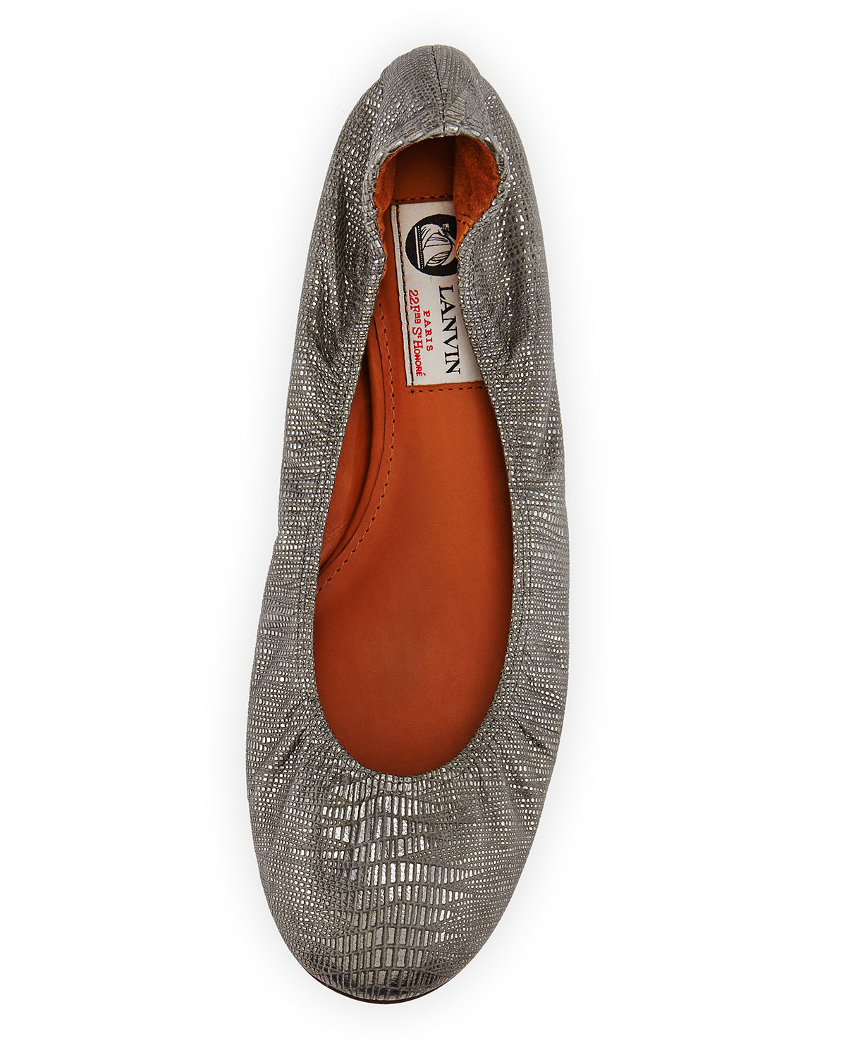 Lanvin Metallic Embossed Flats new sale online free shipping manchester great sale 5Q2uzUz