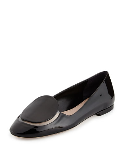 Miu Miu Patent & PVC Slip-On Loafer, Nero